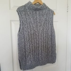 Topshop Sweater vest Gray 8 relaxed fit
